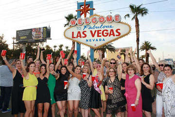 Bachelorette Party at Vegas Sign