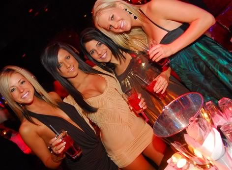 Girls bottle service drinks