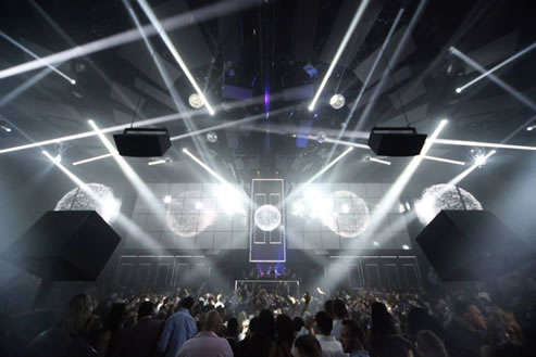 Light nightclub dance floor