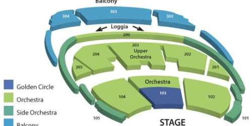 Seating chart map for O Bellagio