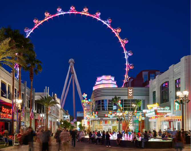 Thing to do on the strip: Linq Promenade