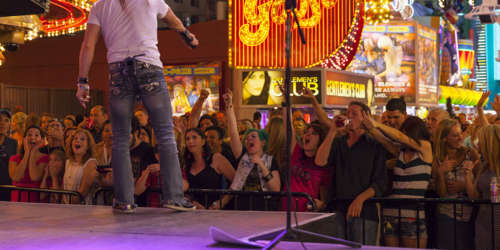 Free concert on Fremont Street, Downtown Las Vegas